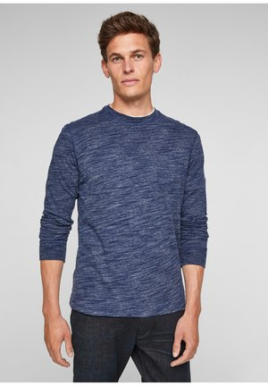 LANGARMSHIRT - Long sleeved top - blue melange