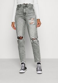 American Eagle - MOM  - Jeans slim fit - charcoal ash - 0