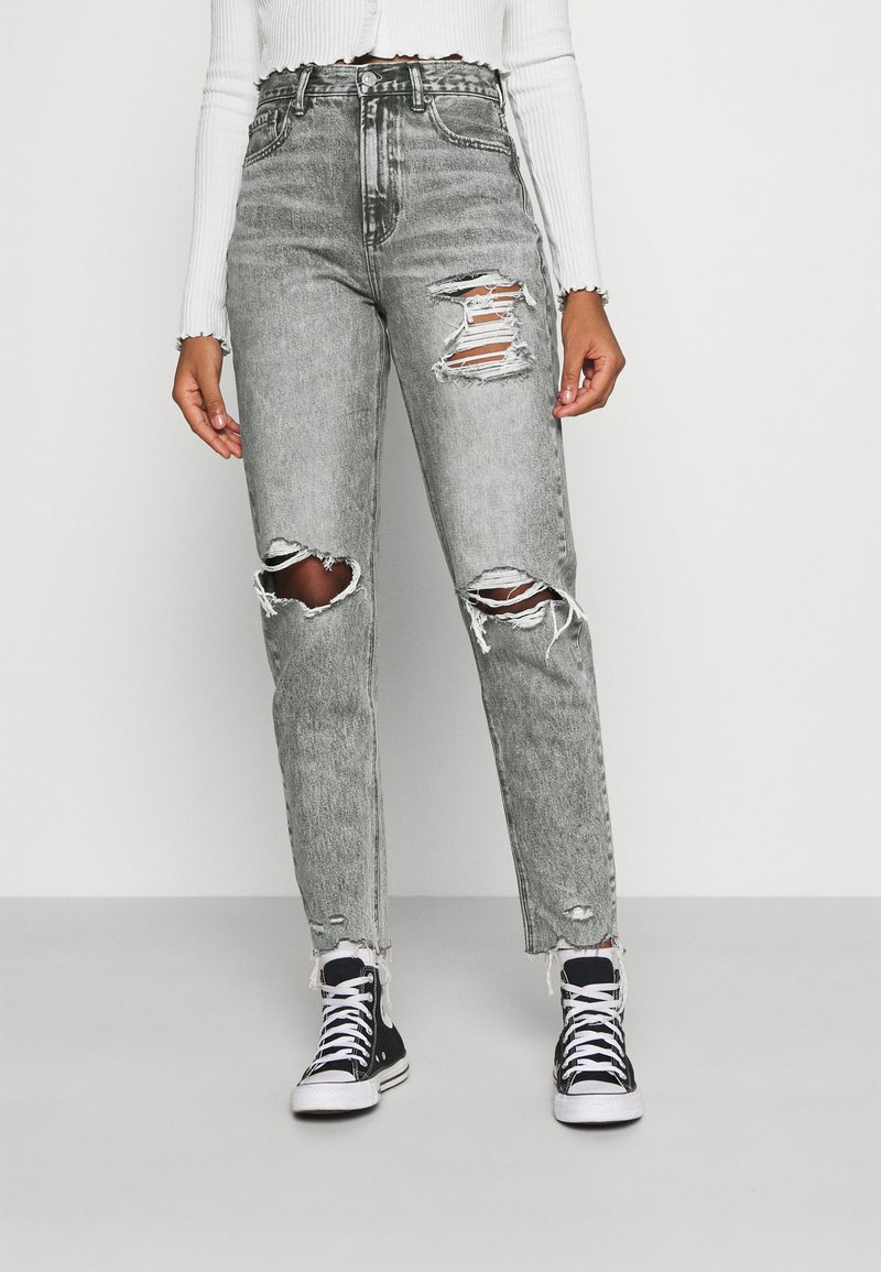 American Eagle - MOM  - Jeans slim fit - charcoal ash