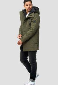 INDICODE JEANS - Winter coat - dark green - 1