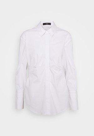 EVE DRAPE BLOUSE - Button-down blouse - white