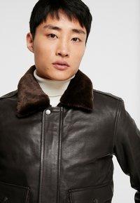 Serge Pariente - PILOT - Leather jacket - dark brown - 5