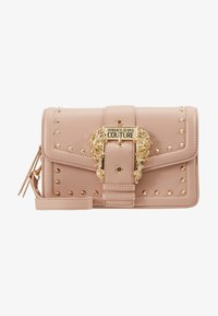 Versace Jeans Couture - BAROQUE BUCKLE STUD SHOULDER  - Across body bag - naked pink - 5