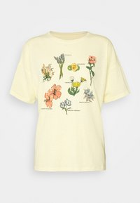 FLOWER TYPES DINER TEE - T-shirts med print - yellow