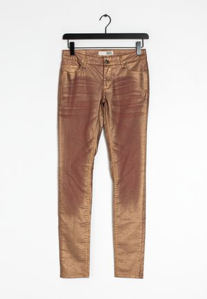 Straight leg jeans - gold