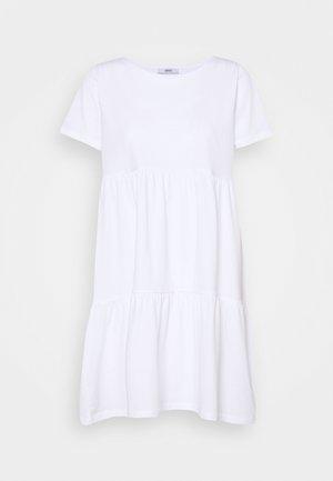 ONLAYCA PEPLUM DRESS - Žerzejové šaty - white