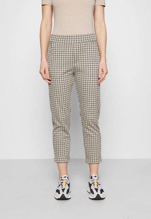 HESTER INTERLOCK HOUNDSTOOTH - Trousers - light beige