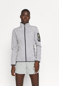 CMP - WOMAN JACKET - Fleece jacket - grey/bianco - 0