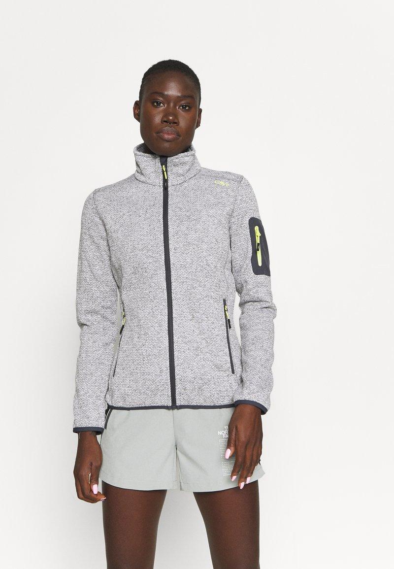 CMP - WOMAN JACKET - Fleece jacket - grey/bianco