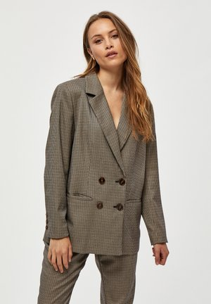 Short coat - mixed houndstooth