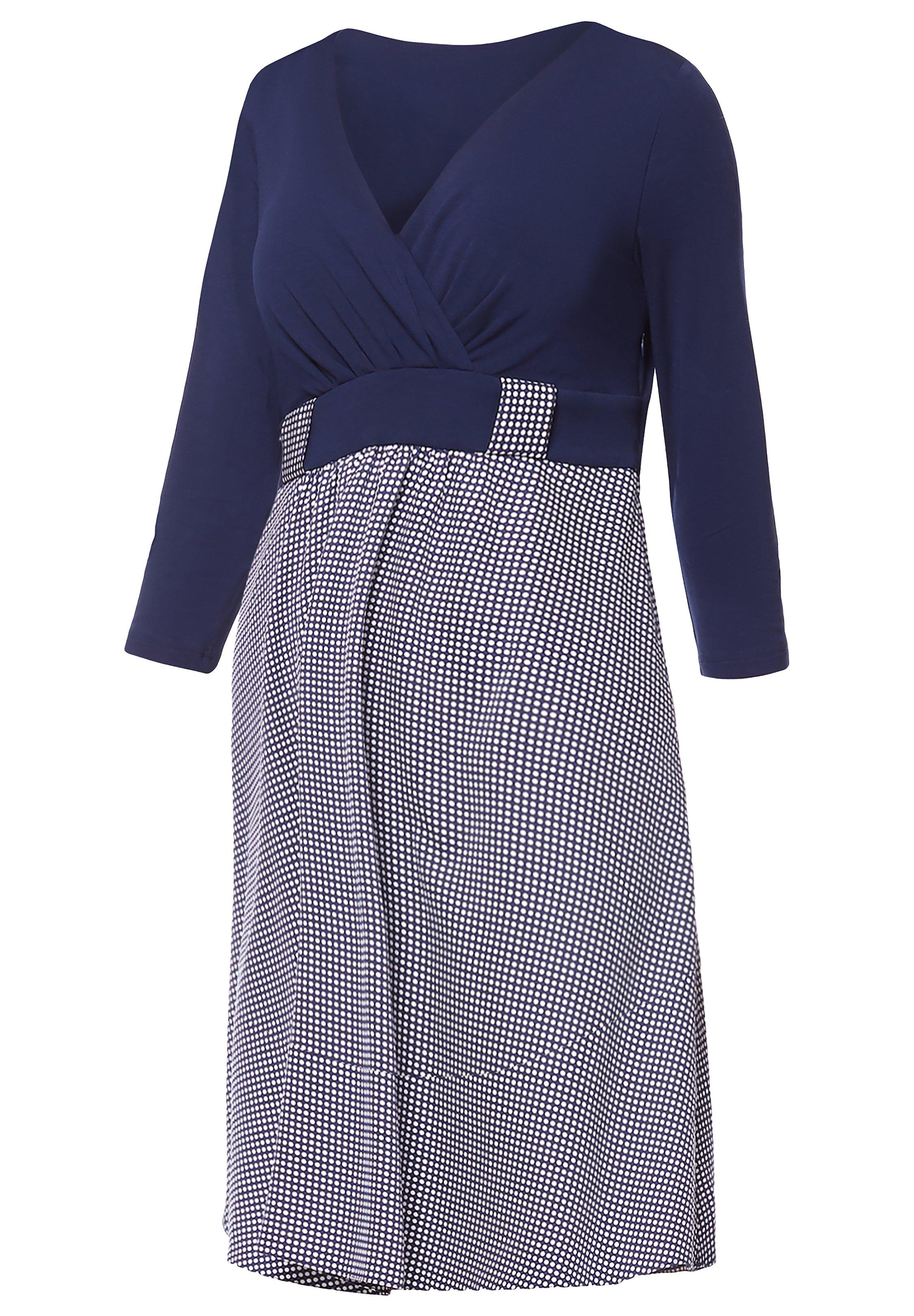 BeMammy Robe d'été - dunkelblau
