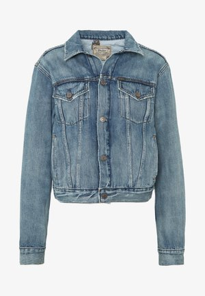 STORMS - Denim jacket - medium indigo