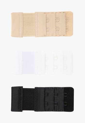 BRA EXTENDER 3 PACK - Other accessories - black/white/skin
