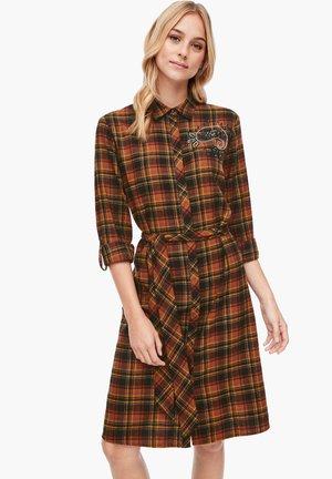 MIT TARTAN-CHECK - Shirt dress - brown check
