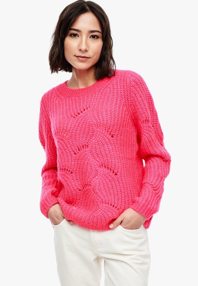 s.Oliver - Jumper - neon pink