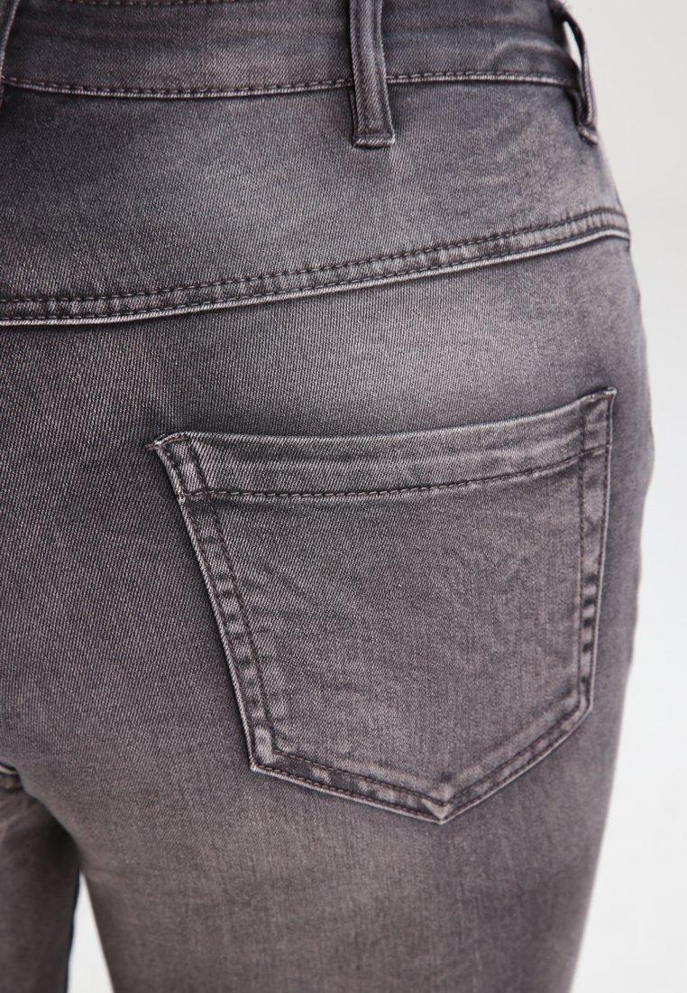 Zizzi AMY LONG - Jeans Skinny Fit - dark grey denim - Women's Clothing Cog4b