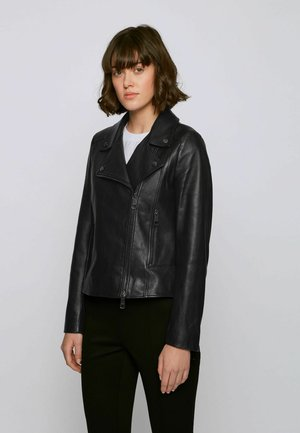 C_SAJUANA - Leather jacket - black