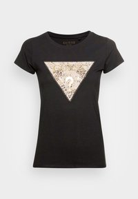Guess - GHOST LOGO - T-shirt con stampa - jet black - 3