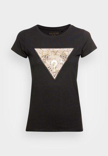 GHOST LOGO - T-shirt con stampa - jet black