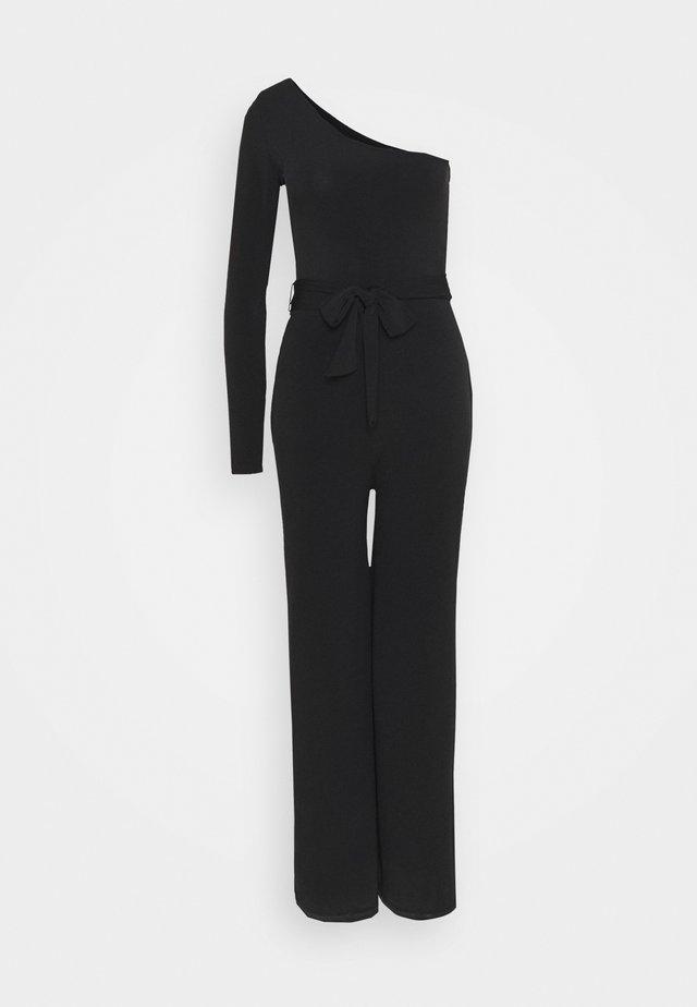 ONE SHOULDER TIE - Jumpsuit - black