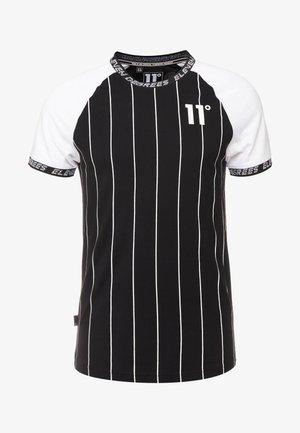VERTICAL STRIPES - Print T-shirt - black