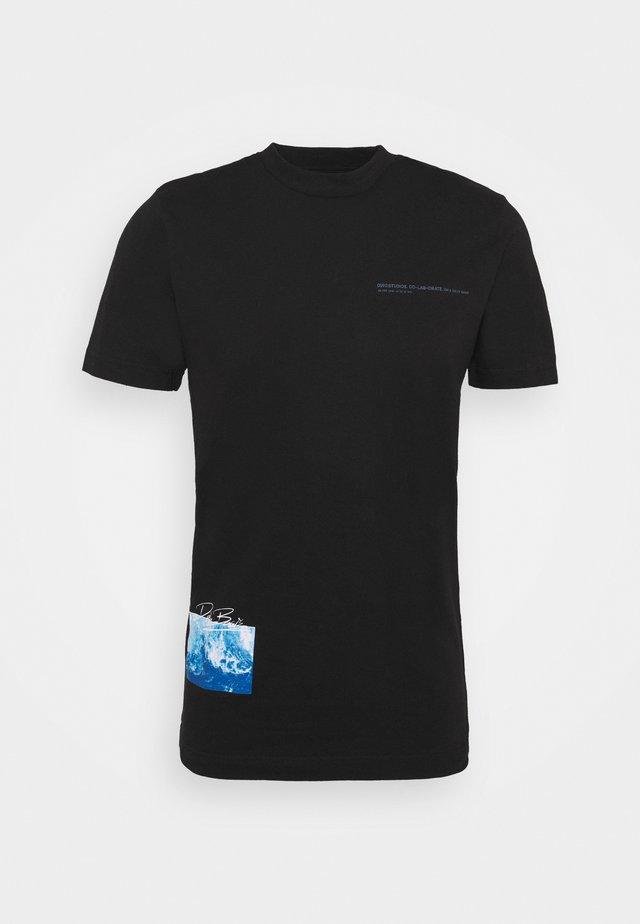 WAVE UNISEX - T-shirt print - black