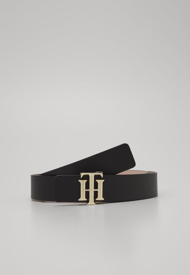 REVERSIBLE LOGO BELT  - Belt - black