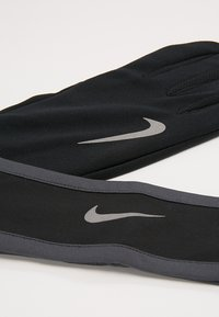 Nike Performance - RUN DRY HEADBAND AND GLOVE SET - Guantes - black/anthracite/silver - 5
