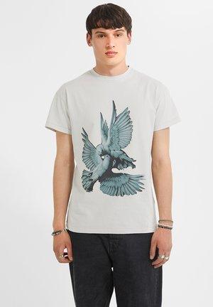 Print T-shirt - cool grey