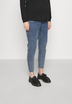 MLTOWN CROPPED - Slim fit -farkut - dark blue denim