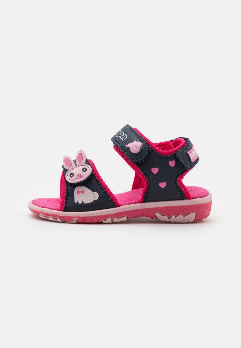 Kappa - Walking sandals - navy/pink