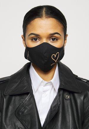 HEART LOGO 3 PACK - Community mask - black