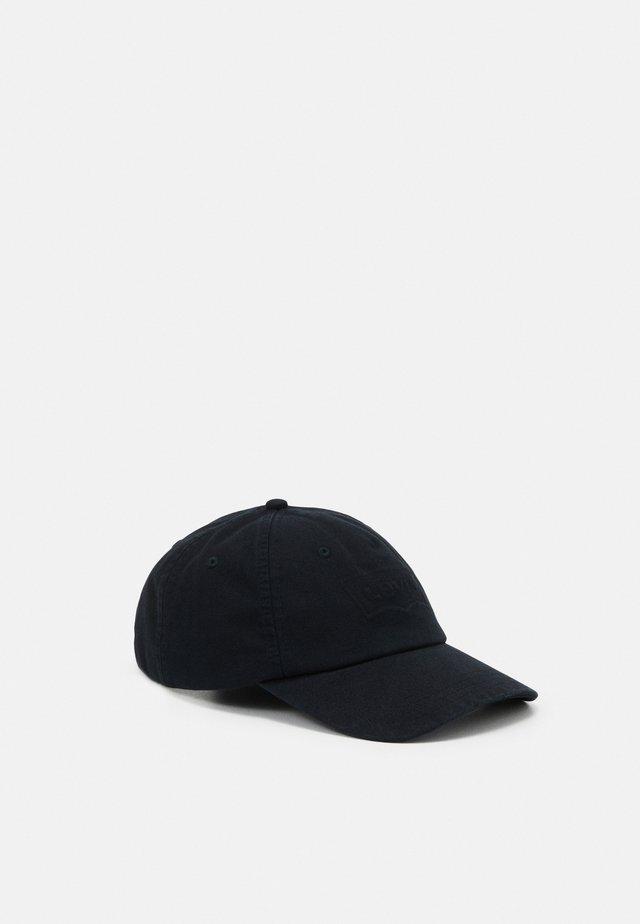 WASHED DEBOSSED BIG BATWING CAP UNISEX - Cappellino - regular black