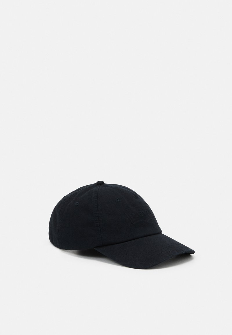 Levi's® - WASHED DEBOSSED BIG BATWING CAP UNISEX - Caps - regular black