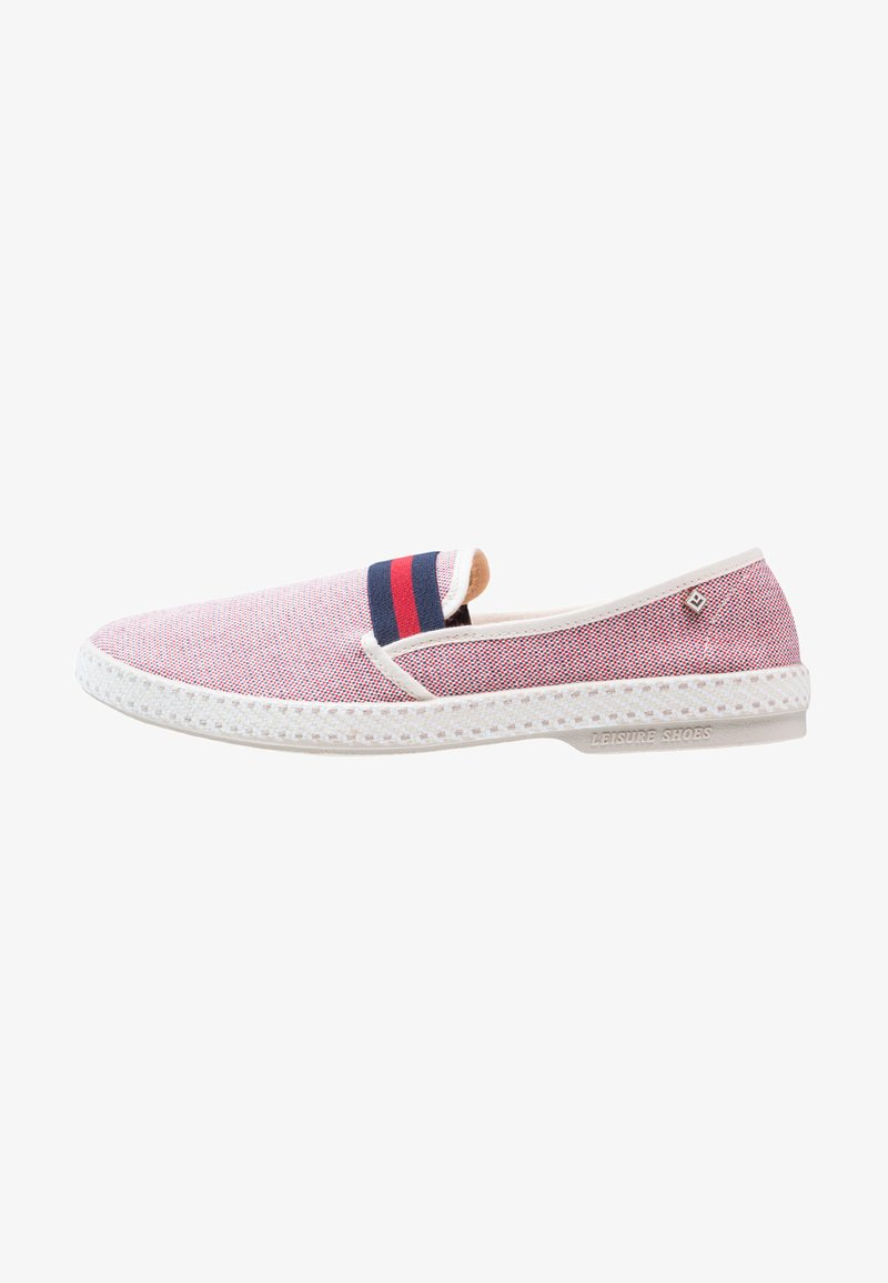 RIVIERAS - COLLEGE - Slip-ons - rouge