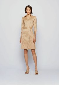 BOSS - DALIRI1 - Shirt dress - beige - 1