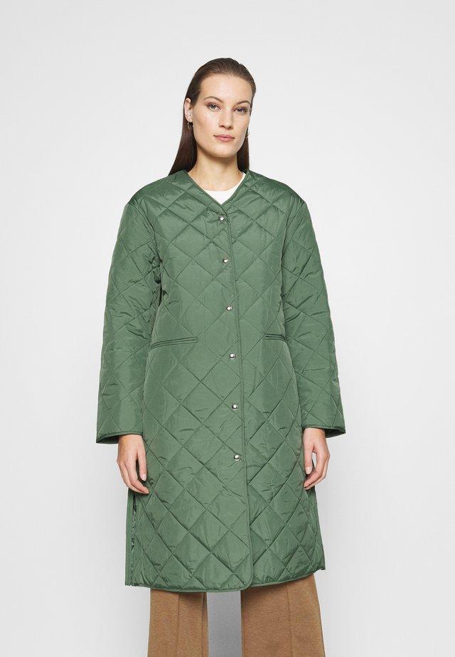 COAT - Classic coat - green medium dusty