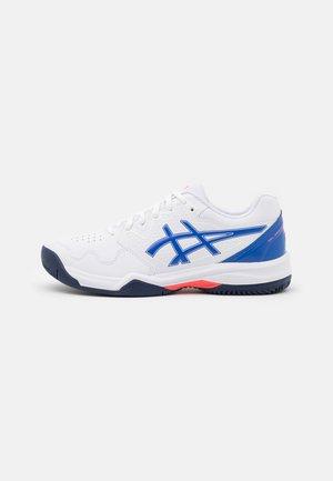 GEL DEDICATE 7 CLAY - Clay court tennis shoes - white/lapis lazuli blue