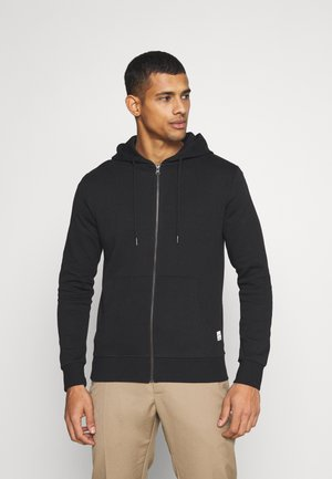 JJEBASIC ZIP HOOD - Sweatjakke /Træningstrøjer - black