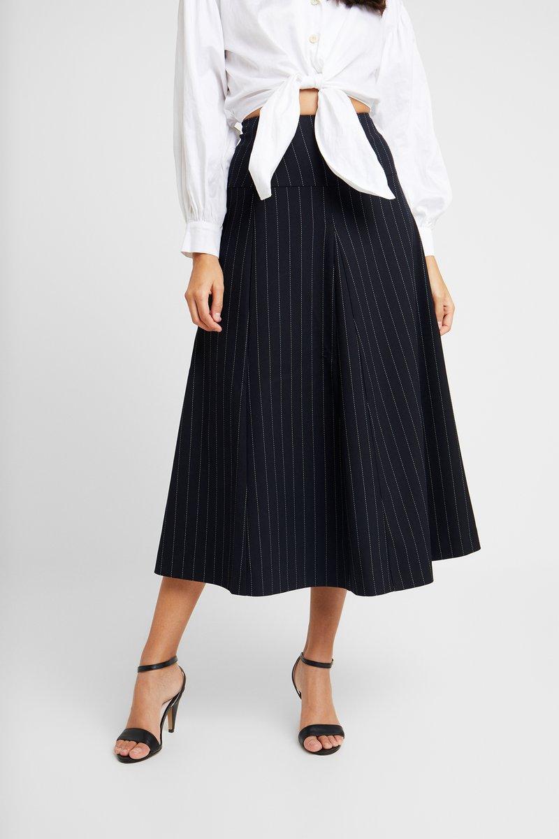 IVY & OAK - MIDI GODET SKIRT - A-line skirt - navy blue