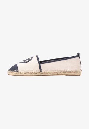 EXCLUSIVE REY  - Espadrilles - light cream/navy