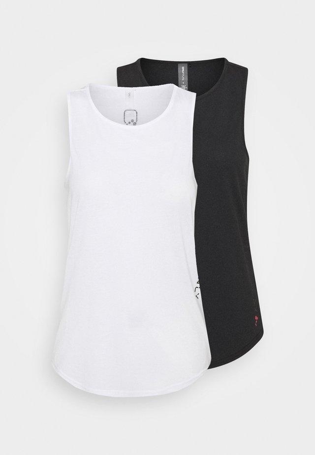 ONPPERFORMANCE 2 PACK - Top - black/white