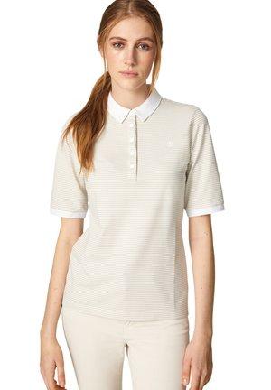 TAMMY - Polo shirt - beige/weiß