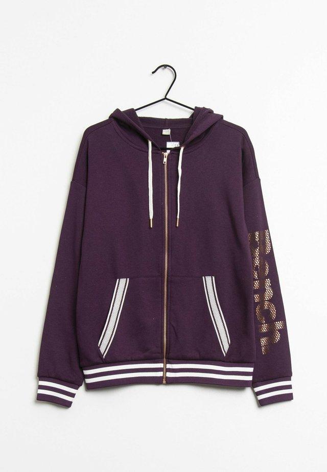 Hoodie met rits - purple