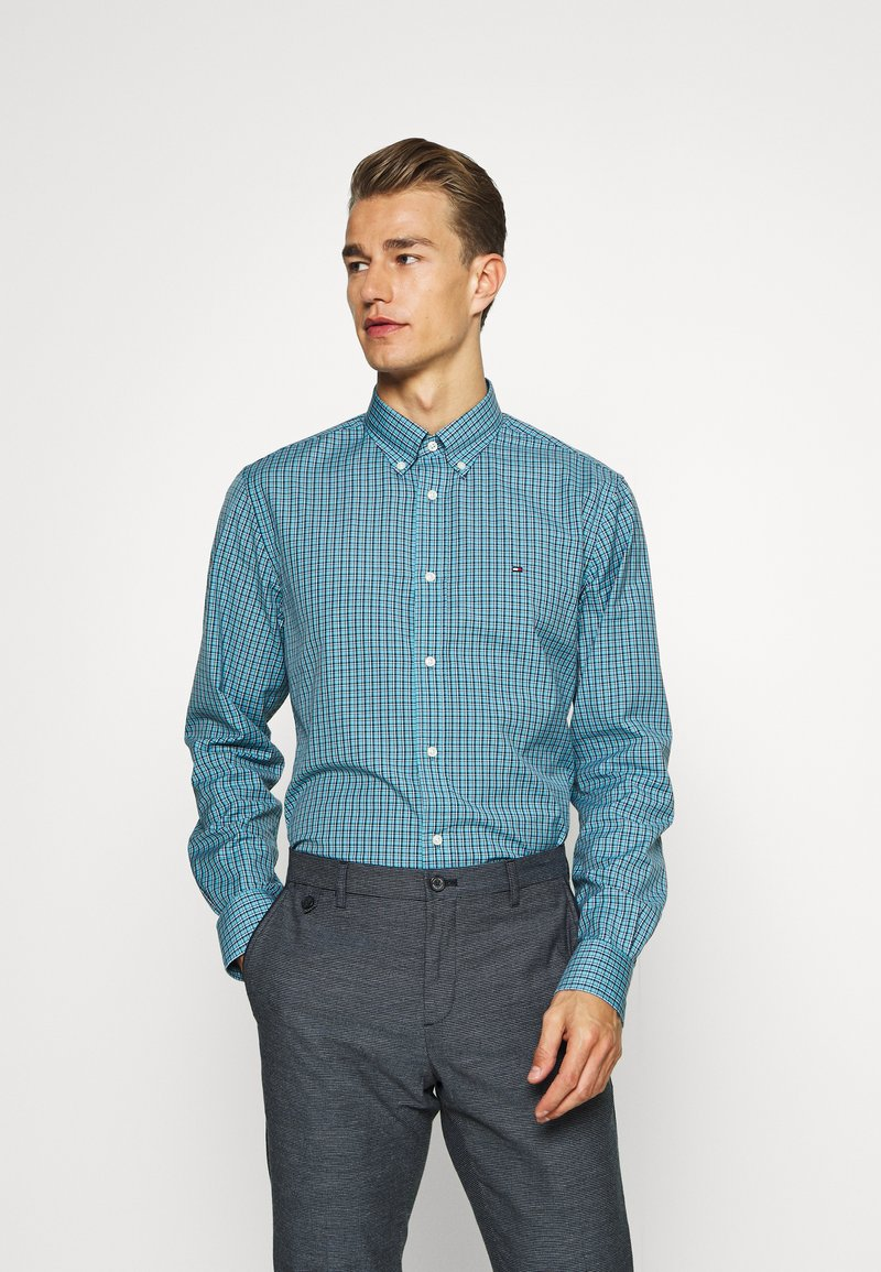 Tommy Hilfiger - MICRO CHECK SHIRT - Shirt - blue