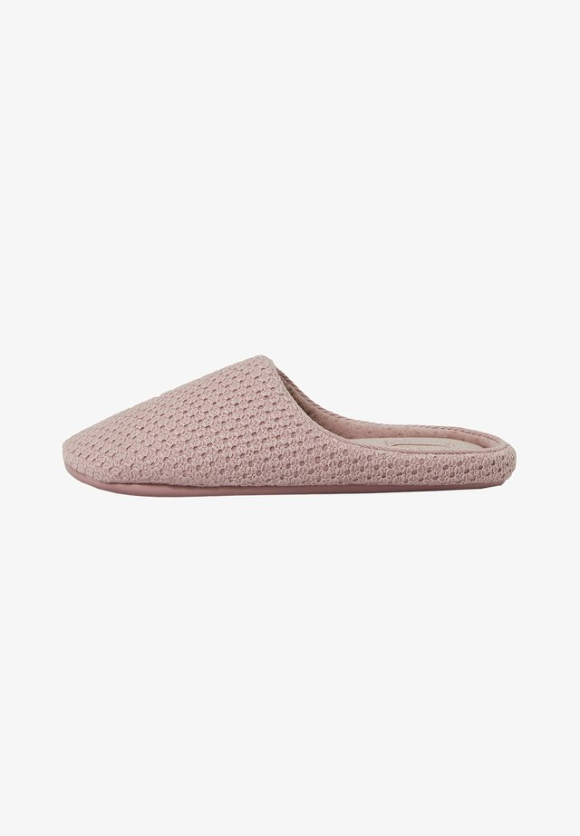 BASIC EMBROIDERED - Slippers - mauve