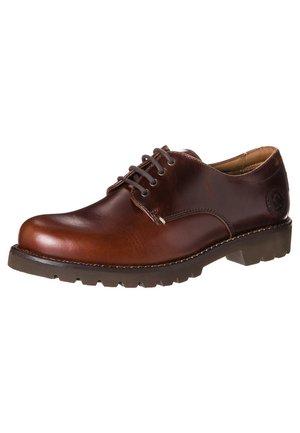 JACKSON - Volnočasové šněrovací boty - bark