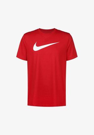 T-shirt med print - university red / white