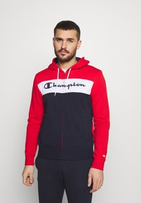 Champion - HOODED FULL ZIP SUIT - Tracksuit - red/dark blue - 0