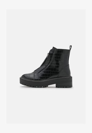 ZIP BOOT - Platåstøvletter - black